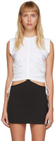 Alexander Wang White Wash and Go Twist Tank Top