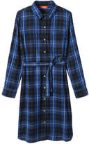 Joe Fresh Women's Plaid Shirt Dress, Blue (Size S)