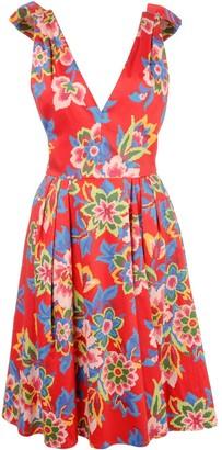 Carolina Herrera digital flowers flared dress