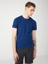 Frank + Oak Calder Print Cotton-Blend T-Shirt in Navy