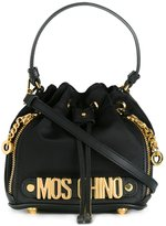Moschino mini bucket tote