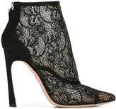 Giambattista Valli lace ankle boots - women - Cotton/Leather/Nylon/Satin Ribbon - 39