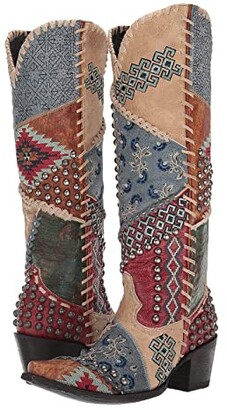 Double D Ranchwear by Old Gringo Blowout (Bone/Red) Cowboy Boots