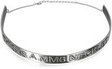 MM6 Maison Martin Margiela Silver Tone Brass Necklace