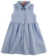 Penelope Mack Girls 2-6x Sleeveless Button-Down Dress