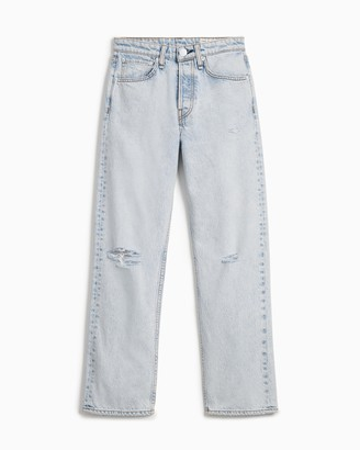 Rag & Bone Maya high-rise straight - nevada blue