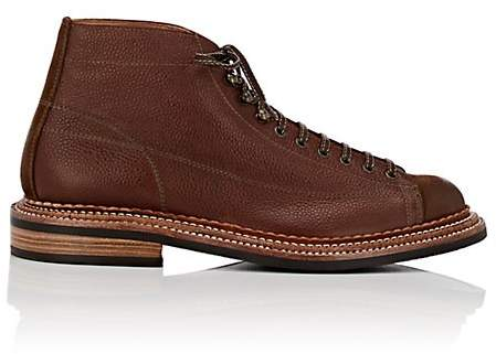Grenson MEN'S GUS GRAINED LEATHER & SUEDE BOOTS