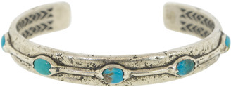 John Varvatos Chinese Turquoise Sterling Silver Cuff