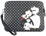 Dolce & Gabbana family patch clutch - men - Calf Leather - One Size