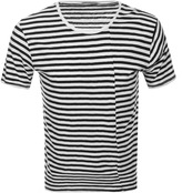Nudie Jeans Ove Crew Neck Striped T Shirt White