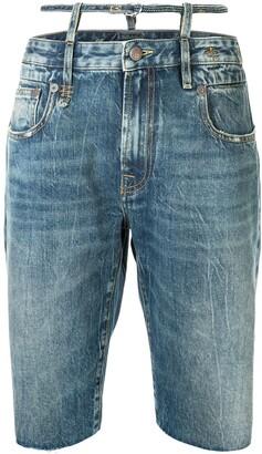 R 13 Ollie knee-length shorts