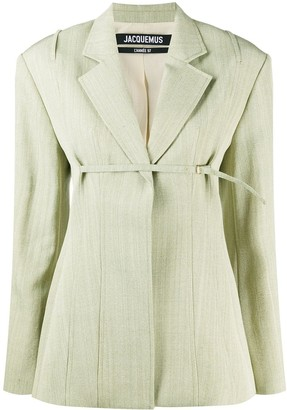Jacquemus Sauge front strap blazer