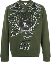 Kenzo Tiger patch sweatshirt - men - Cotton/Polyester/Spandex/Elastane - XS