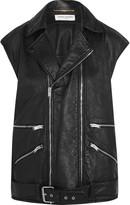 Saint Laurent Textured-leather biker gilet