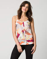 Le Château Abstract Print Crêpe de Chine Camisole