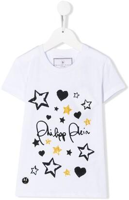 Philipp Plein Junior logo T-shirt