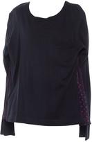 Sacai Luck Navy Cotton Top for Women