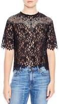 Sandro Laslo Lace Cropped Top