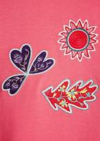 Paul Smith Women's Pink Sun And Floral Embroidered Cotton Sweatshirt