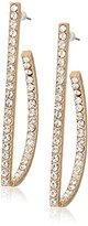 GUESS Pave Post Gold/Crystal Drop Earrings
