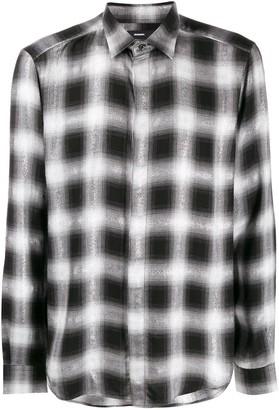 Diesel S-Marlene check print shirt