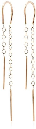 Melissa Joy Manning Horseshoe 14K yellow gold drop earrings
