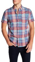 Jeremiah Monroe Plain Weave Plaid Short Sleeve Regular Fit Shirt