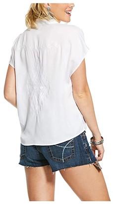 Ariat Shania Shirt (White) Women's Clothing