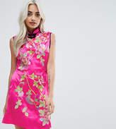 Asos Oriental Satin Mini Dress