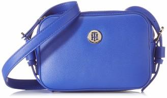 Tommy Hilfiger Womens Classic Saffiano Camera Bag Cross-Body Bag Blue (Cobalt)