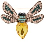 Frankie & Stein Women's Brooches and Pins - Rhinestone & Goldtone Bee Brooch