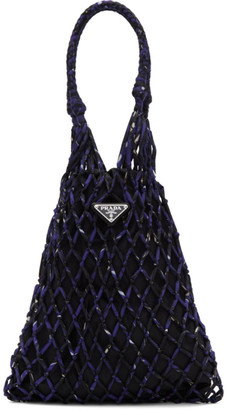 Prada Purple Mini Mesh Tote
