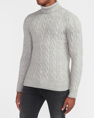 Express Cable Knit Turtleneck Sweater