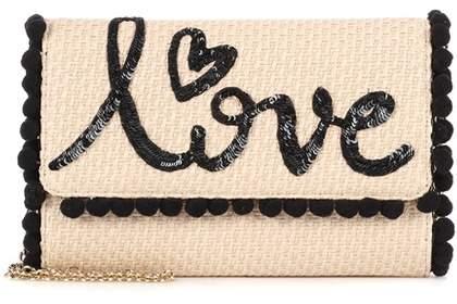 Dolce & Gabbana Embellished raffia shoulder bag