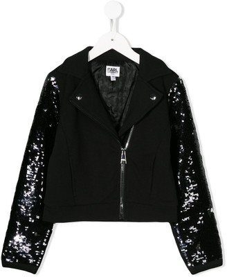 Karl Lagerfeld Paris sequin embroidered jacket