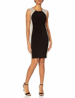 Xscape Evenings Women's Short Dress with Caviar Bead Sides