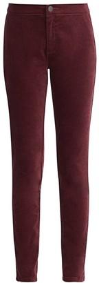 Nic+Zoe Petite Stretch Velvet Five-Pocket Pants