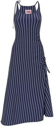 Solid & Striped Pinstripe Midi Dress