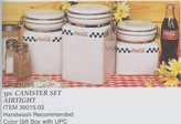 Gibson 3pc Coca-Cola Coke Cafe Collection Stoneware Canister Container Set