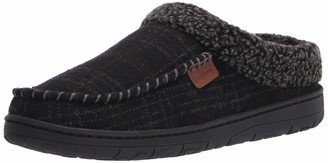 Dearfoams Men's Brendan Microsuede Moc Toe Clog Detail Slipper