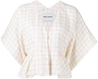 Henrik Vibskov Squid checked blouse