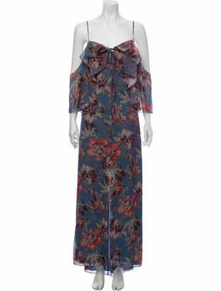 Intermix Silk Long Dress Blue