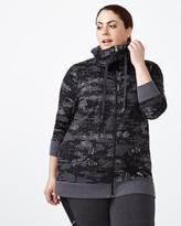 Penningtons Essentials - Plus-Size Reflective Print Jacket
