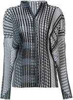 Issey Miyake geometric print plissé blouse