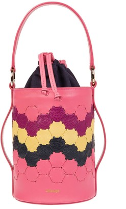 Mianqa Feride Cylinder Woven Bag Fuschia