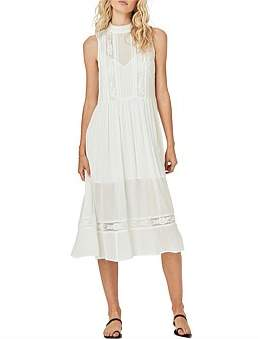 AUGUSTE Margot Wren High Neck Midi Dress