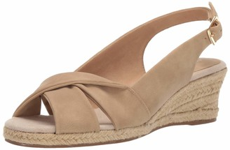Easy Street Shoes Women's Maureen Espadrille Slingback Sandal Wedge