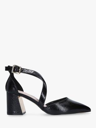 Carvela Koko Two Part Block Heel Court Shoes