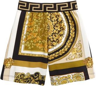 Versace Kids' Barocco Print Shorts
