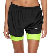 Nike Women's 2-in-1 Tempo Compression Running Shorts